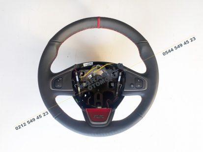 Clio 4 RS Direksiyon Simidi Kırmızı Siyah Deri 484004575R