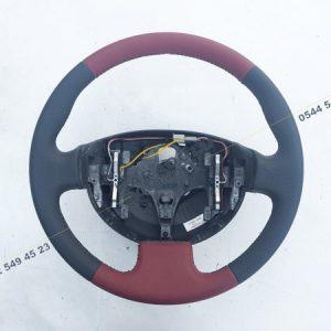 Megane 2 GT Direksiyon Simidi Kırmızı Siyah Deri 484005500R 8200241440 8200241707 8200276082