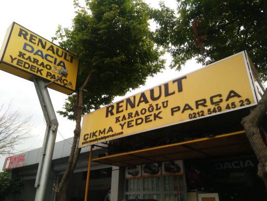 Karaoglu Renault Yedek orjinal yedek sıfır çıkma parça